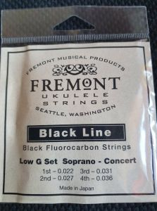 Fremont Black Line Fluorocarbon Strings Soprano/Concert Low G