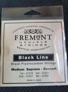 Fremont Black Line Fluorocarbon Strings Set of 4 Soprano/Concert Medium Tension