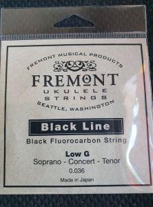 Fremont Black Line Fluorocarbon Single Low G String for Tenor, Concert, Soprano