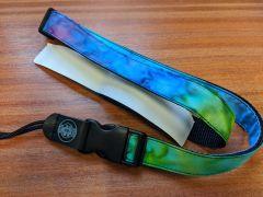 Magic Fluke Velcro/Quick Release Deluxe Ukulele Strap - Blue/Green/Purple Tie-Dye